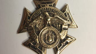 Wanaque police are searching for the owner of this World War I medal after a resident found it with a metal detector.