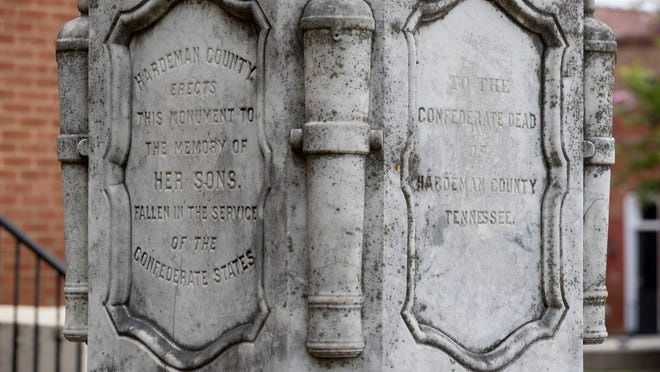 A monument to fallen Confederate soldiers, an obelisk installed in the late 1860s sits on the south lawn of the Hardeman County Courthouse and has largely gone unnoticed.
