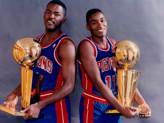 Joe Dumars, left, and Isiah Thomas were both first-round
