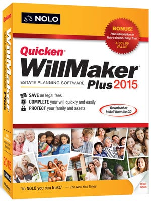 The WillMaker Plus software walks you through the process.