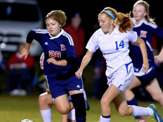 As a junior, Maddie Davis scored 55 goals, tied for sixth-most in TSSAA history for girls soccer.