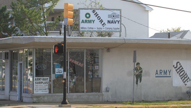 Shore Army-Navy in Seaside Heights, N.J., was broken into by first responders, in search of needed supplies, after Superstorm Sandy.