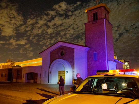 Phoenix police officers investigate at Mater Misericordiae