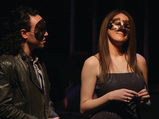 """Ross Bergen, left, and Brooke Sirota star in a New Orleans-inspired version of """"Romeo & Juliet"""" through March 19 at Union County Performing Arts Center's Hamilton Stage in Rahway."""