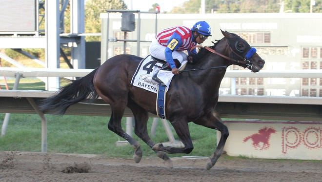 Bayern wired Saturday's Pennsylvania Derby at Parx, upsetting California Chrome.
