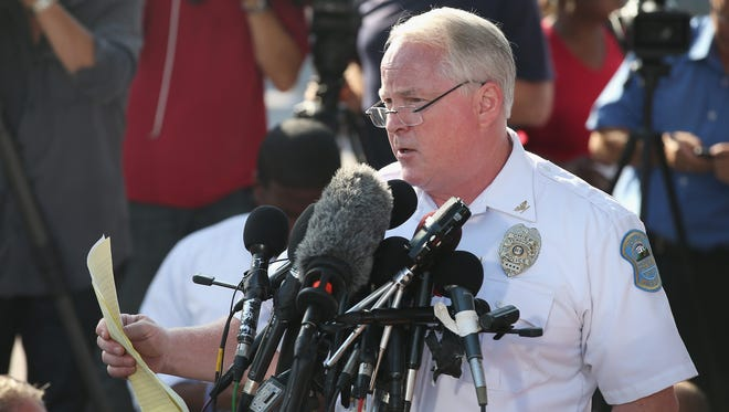 Ferguson Police Chief Thomas Jackson on Aug. 15, 2014.