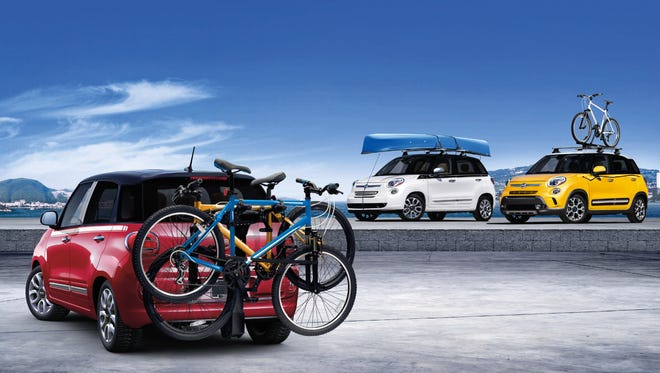 The 2014 Fiat 500L is an odd-looking four-door,  five-passenger front-drive, compact hatchback that shares little but the name with the smaller 500. Fiat calls it a small multi-purpose vehicle; U.S. government considers it a small station wagon. Available in four trim levels: Pop, Easy, Trekking, Lounge.