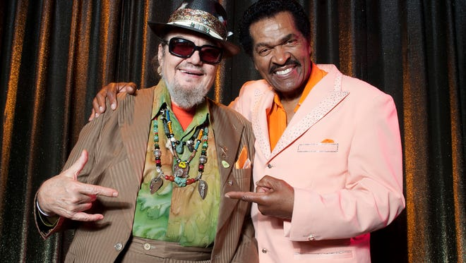 Dr. John, left, is featured on the new Bobby Rush album, 'Decisions.'