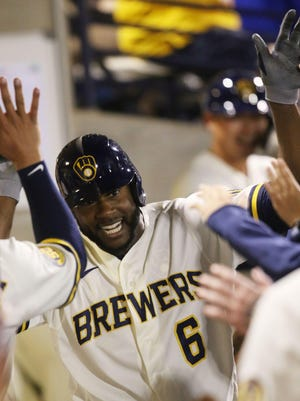 Milwaukee Brewers outfielder Lorenzo Cain (6) has decided to opt out of the rest of the 2020 baseball season.