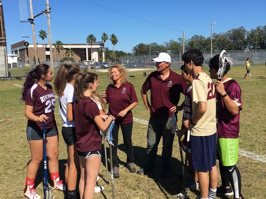 Richard and Michelle Williamson are coaching the Riverdale girls and boys lacrosse teams this season.