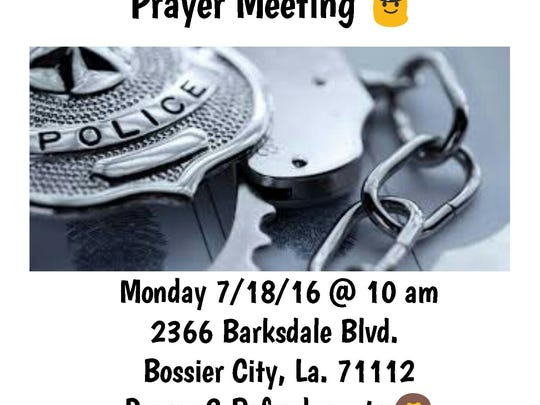 Law Enforcement Prayer Meeting