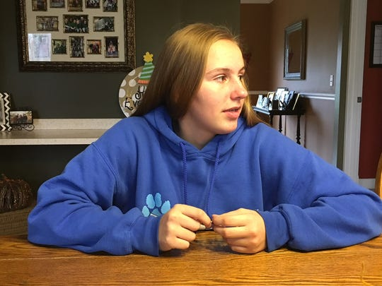 Adrienne Robers, a freshman, decided to stay at Mother of Mercy school this year.