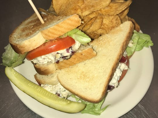 One of the favorites for lunch at Cafe LaBelle is the cranberry almond chicken salad sandwich.