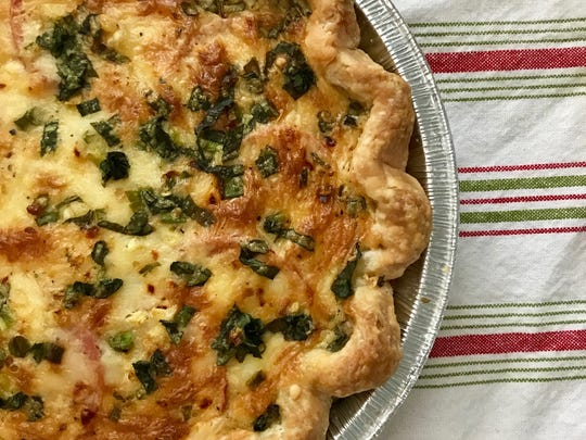 Amy Watson Bish won first place in the State Fair's savory pie category with her Tomato Corn Cheddar quiche.