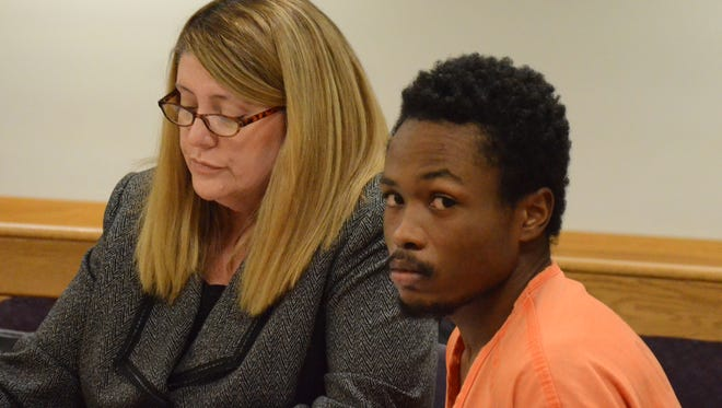 Markeese Irby with one of his attorneys, Tracie Tomak.