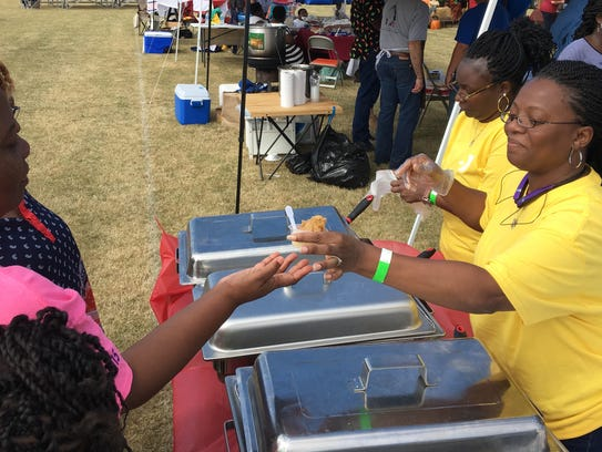 Cynthia Toney of Father Son &Holy Ghost Church serves