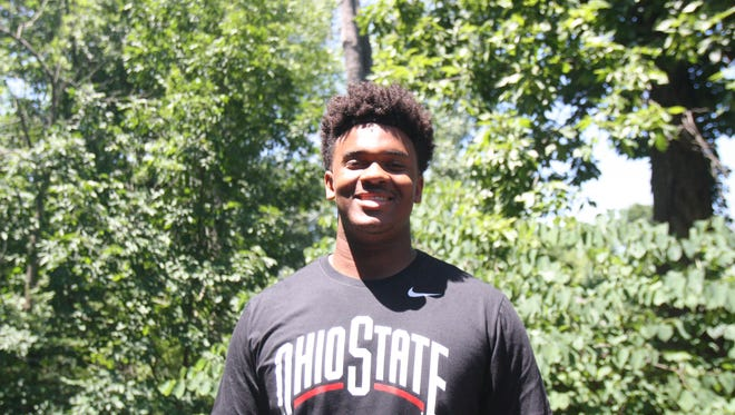 St. Xavier's Paris Johnson Jr., the recruit in Ohio in the class of 2020, verbally committed to Ohio State University on June 28, 2018.