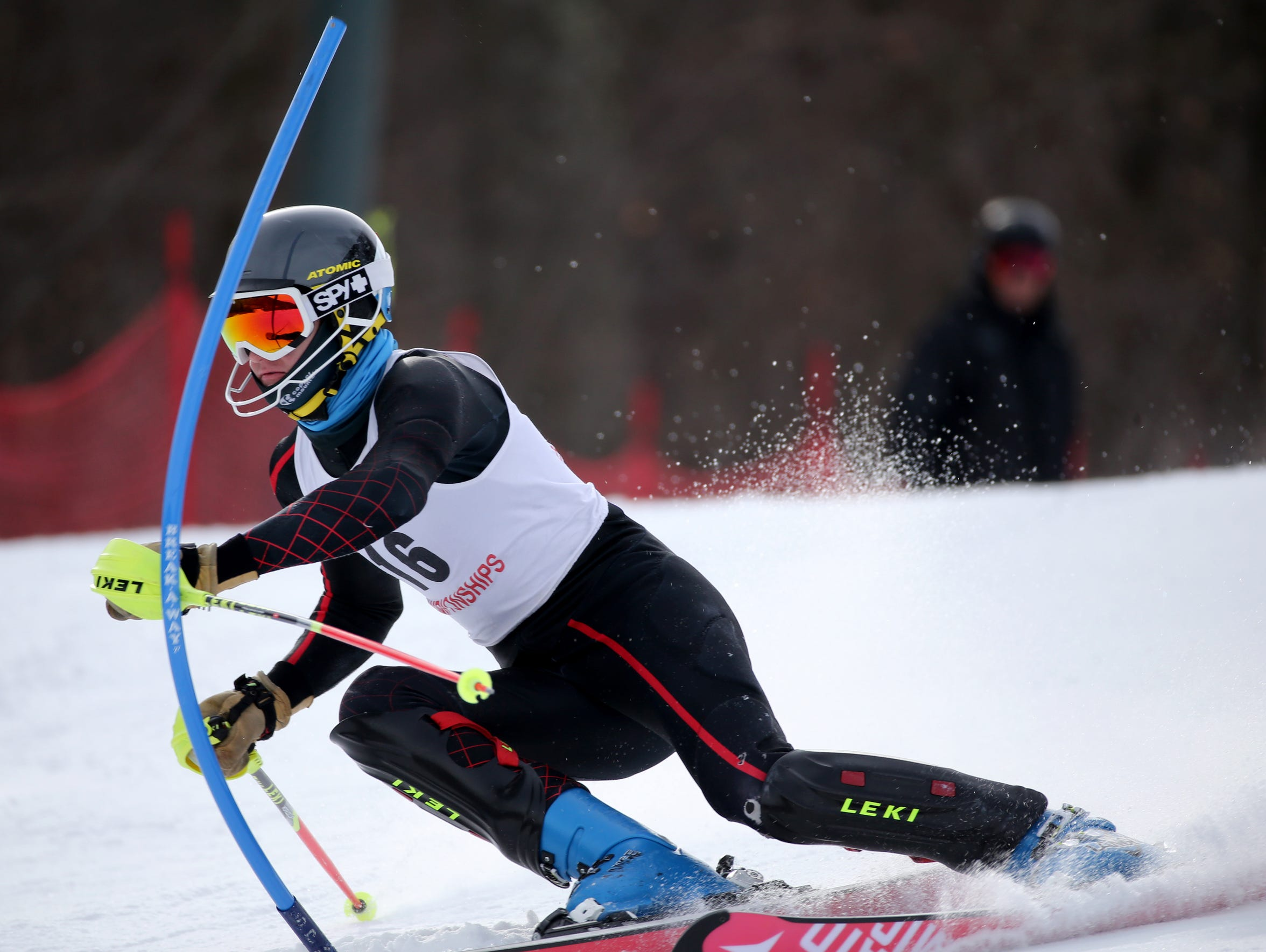 Noah Shinaman of Brighton during Section V boys Alpine