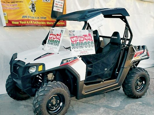 Lincoln County Toys for Tots is holding a drawing for a Polaris RZR  570 ATV.