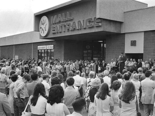 In an Aug. 2, 1972, photograph, West Town Mall is officially opened.