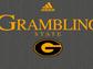 Adidas design for a grey Grambling State women's T-shirt