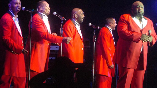 The fabulous Temptations perform before a sold out crowd Friday night at Evangeline Downs Racetrack and Casino.
