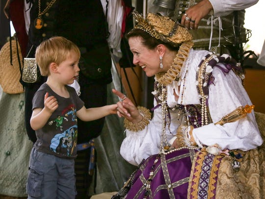 Attendees of the Ohio Renaissance Festival have the opportunity to meet and interact with festival members.