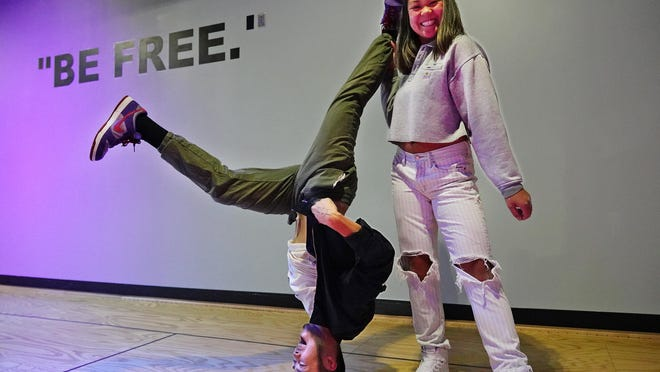 Anthony Bounphakhom, and his sister Brenda demonstrate some freestyle dance moves at The Block Collaborative, formerly the L.A. Beatz studio at 2800 Lafayette Road in Portsmouth.