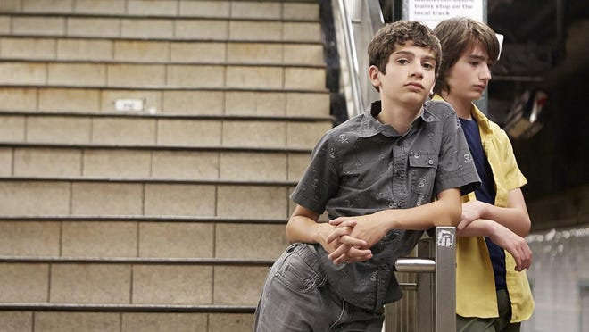 "Michael Barbieri, left, and Theo Taplitz in a scene from the Magnolia Pictures film, ""Little Men."""
