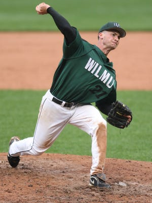 Jordan Oncay, shown pitching for Wilmington University in 2011, will play in Friday's Delaware Semi-Pro all-star game.