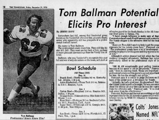 Tom Ballman was featured in The Tennessean on Dec.