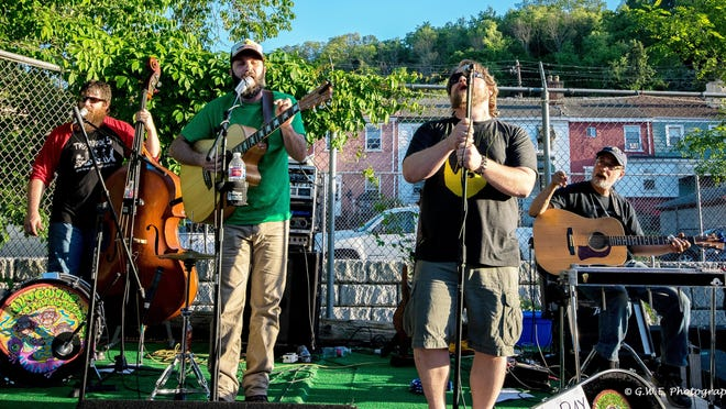 Juvenile Characteristics, which includes, from left, Jason Sample, Jason Hummell, Kris Chapman and Mitch Adelman, will perform Saturday at 6 p.m. at Altered State Distillery, 1535 W. Eighth St.