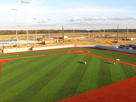 Drone pictures show progress at the Sterlington Sports