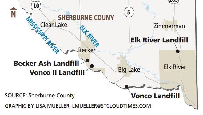Landfill locations