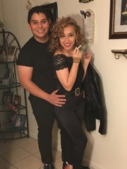 """This photo was submitted by Ines Vasquez, """"Arturo and Ines as Danny and Sandy."""""""