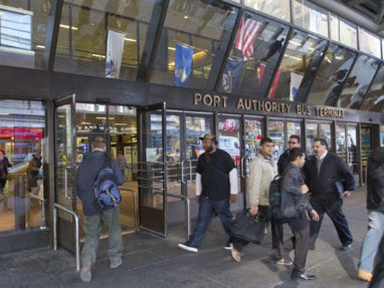 The Port Authority Bus Terminal in Manhattan, shown