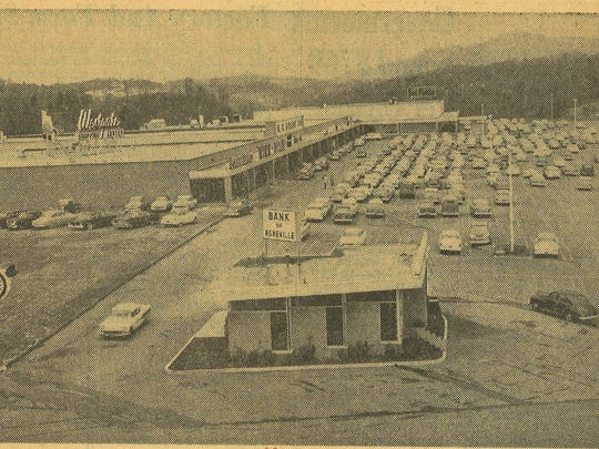 The Westgate Regional Shopping Center as it appeared in a Jan. 25, 1959 edition of the Asheville Citizen-Times.