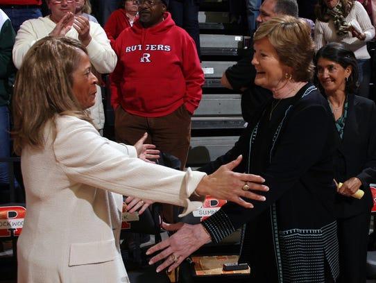 Rutgers head women's basketball coach C. Vivian Stringer