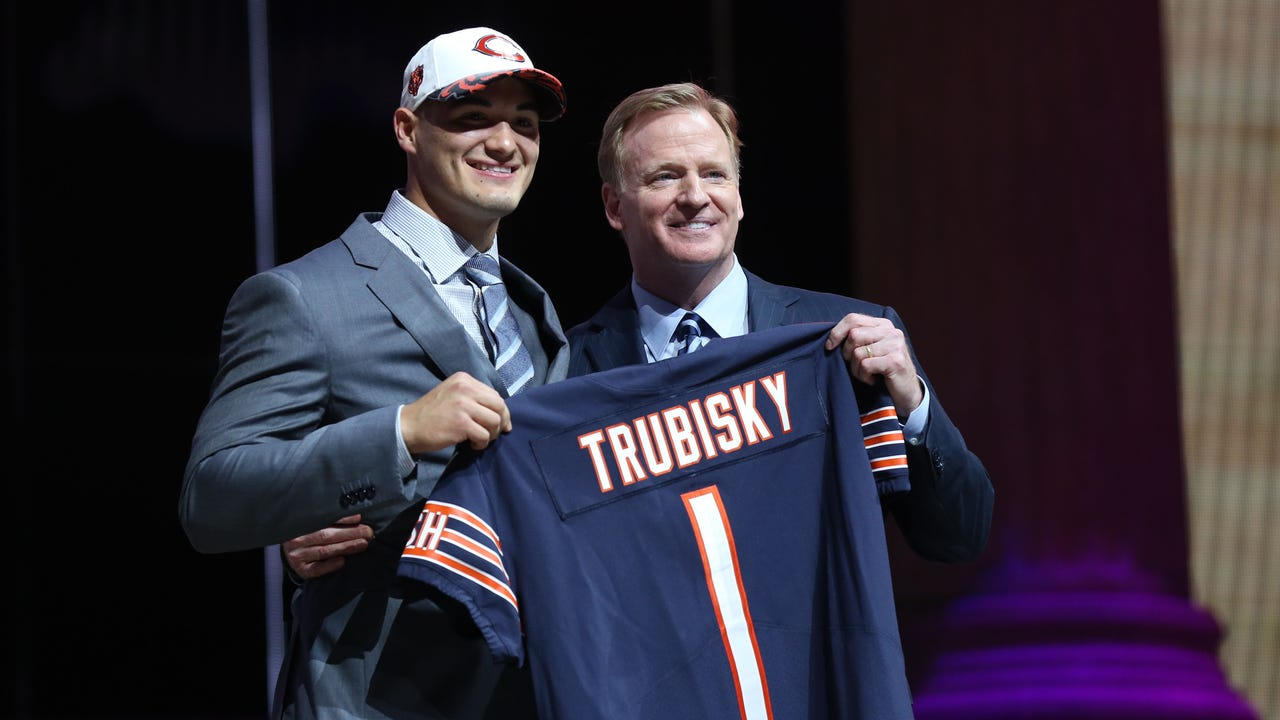 Check out what Mitchell Trubisky, Deshaun Watson and Solomon Thomas had to say shortly after being selected in the 2017 NFL draft.