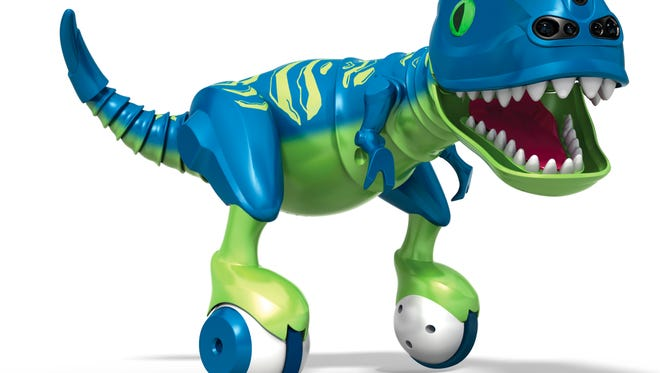 This photo provided by Spin Master shows a rendering of Spin Master's Zoomer Dino, which was awarded Toy of the Year at Toy Fair in New York.