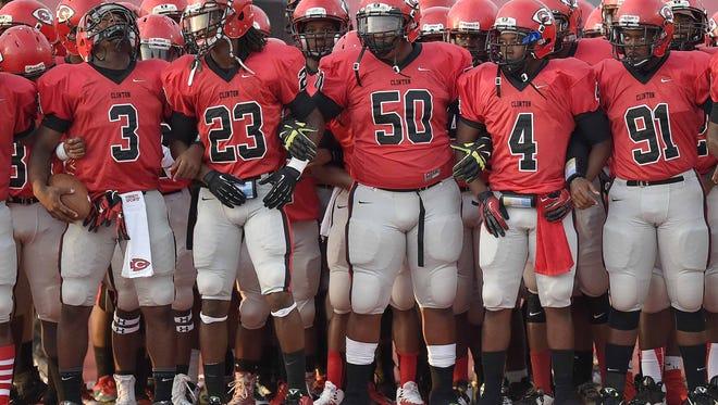Clinton-South Panola opens the 2015 high school football season on Aug. 20.
