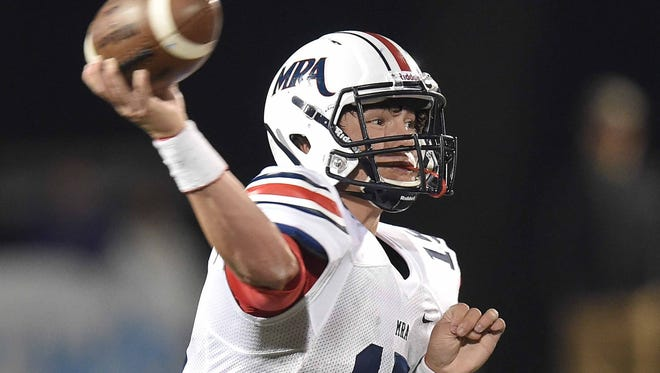MRA quarterback Hayden Davis will likely miss the remainder of the 2016 season with an injury.