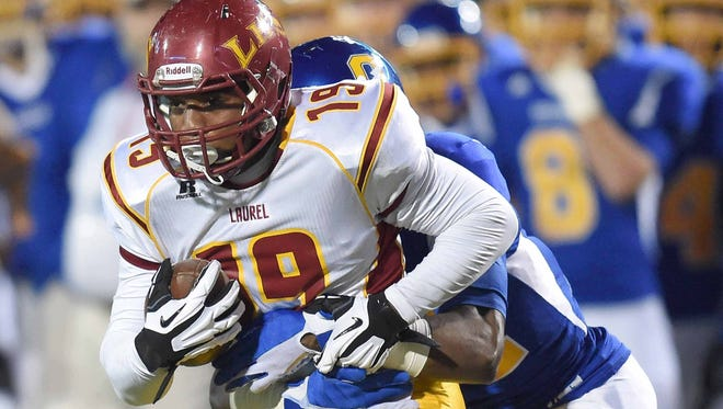 Laurel's Octavious Cooley had six catches for 132 yards and two touchdowns coupled with a 3-yard rushing touchdown in the Golden Tornadoes' fourth straight victory.