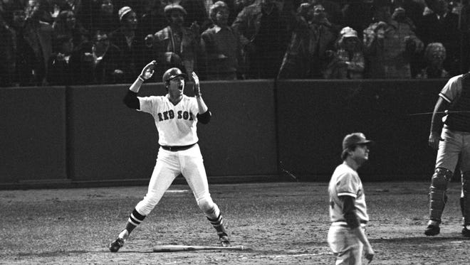Carlton Fisk's 12th inning home run off Cincinnati pitcher Pat Darcy in Game 6 of the 1975 World Series.