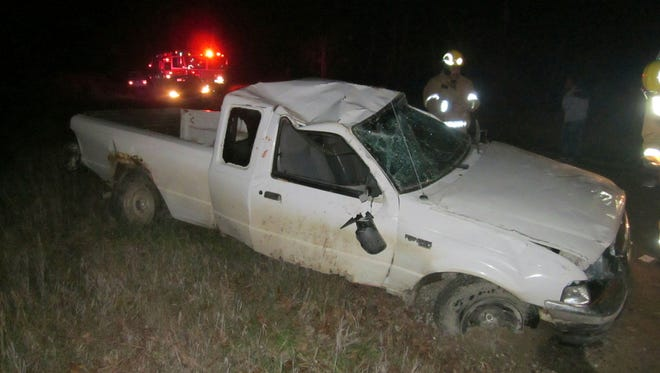 Two teens were taken to the hospital after a crash in Sanilac County's Buel Township.
