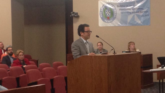 Max Grossman, vice chairman of the El Paso County Historical Commission, addressed Commissioners Court in support of an architectural survey on Monday.
