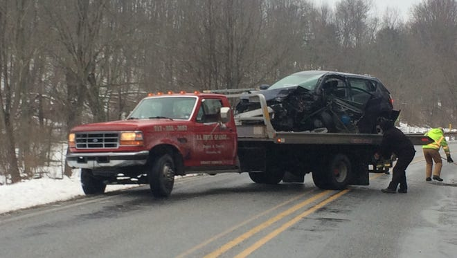 Two women were transported to the hospital after a two-vehicle crash Monday morning in Manheim Township.