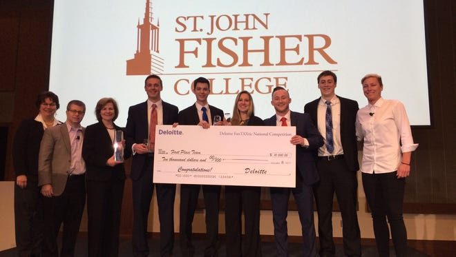 Accounting students at St. John Fisher College won a national tax law competition