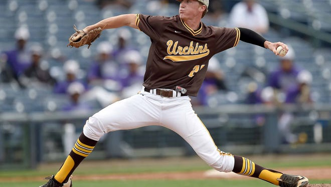 East Union's Witt Roaton pitched a complete game and earned his 11th win as the Urchins beat Loyd Star 5-1 in Game 1 of the Class 2A championship series at Trustmark Park in Pearl.