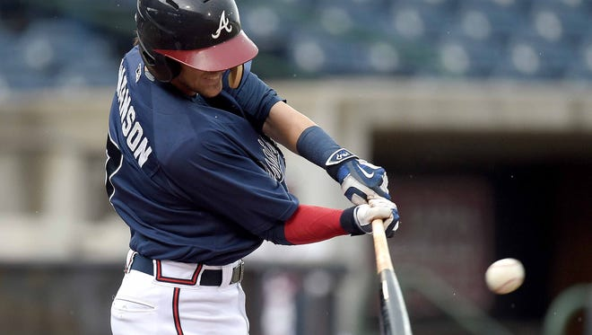 Shortstop Dansby Swanson slugged his fifth home run of the season, but it wasn't enough to help the M-Braves against Jacksonville Thursday night.